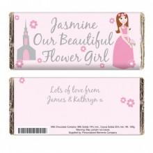Fabulous Flower Girl Chocolate Bar - Personalised