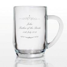 Personalised Ornate Swirl Tankard Pint Glass