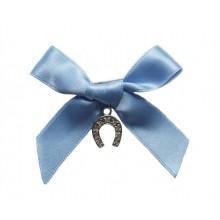 Something Blue Horseshoe Charm