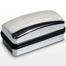 Silver Finished Cufflink Box