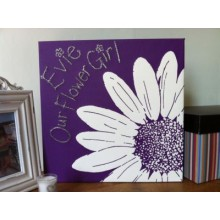 Personalised Daisy Canvas