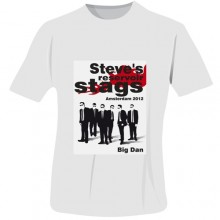 Personalised Reservoir Stags T-Shirt - White