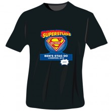 Personalised Superstuds Stag Do T-Shirt - Black