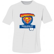 Personalised Superstuds Stag Do T-Shirt - White