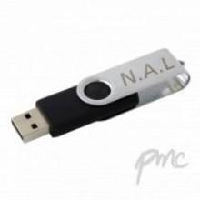 Personalised Black Brushed Finish USB 1GB