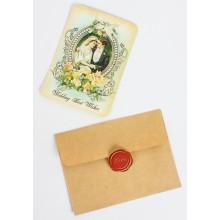 Vintage Wedding Best Wishes Card