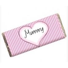 Personalised Chocolate Bar - Pink Stripes