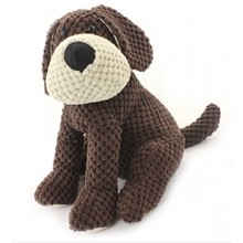 Sitting Knitted Dog Doorstop