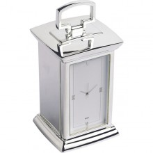 Regent Carriage Clock - Nickel Plated