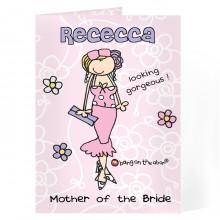 Personalised Bang On The Door Wedding Woman Card