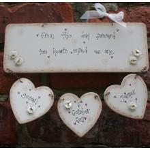 Personalised Handmade Wedding Plaque