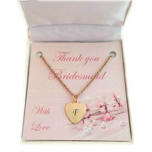 Bridesmaid / Flower Girl Initial Necklace In Rose Gold