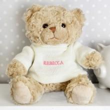 Personalised Pink Name Teddy Bear