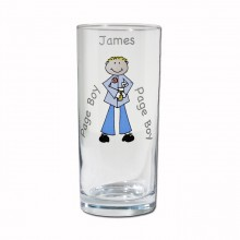 Personalised Page Boy Hi-ball Glass