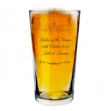 Personalised Ornate Swirl Pilsner Glass