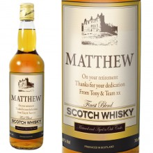 Personalised Traditional Castle Whisky And Gift Box
