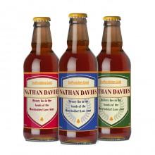 Set of 3 Personalised Shield Beers