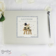 Boofle Personalised Wedding Guest Book With Pen