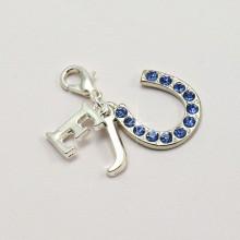 Something Blue Horseshoe Charm Personalised with Initials