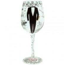 Groom Wine Glass by Lolita
